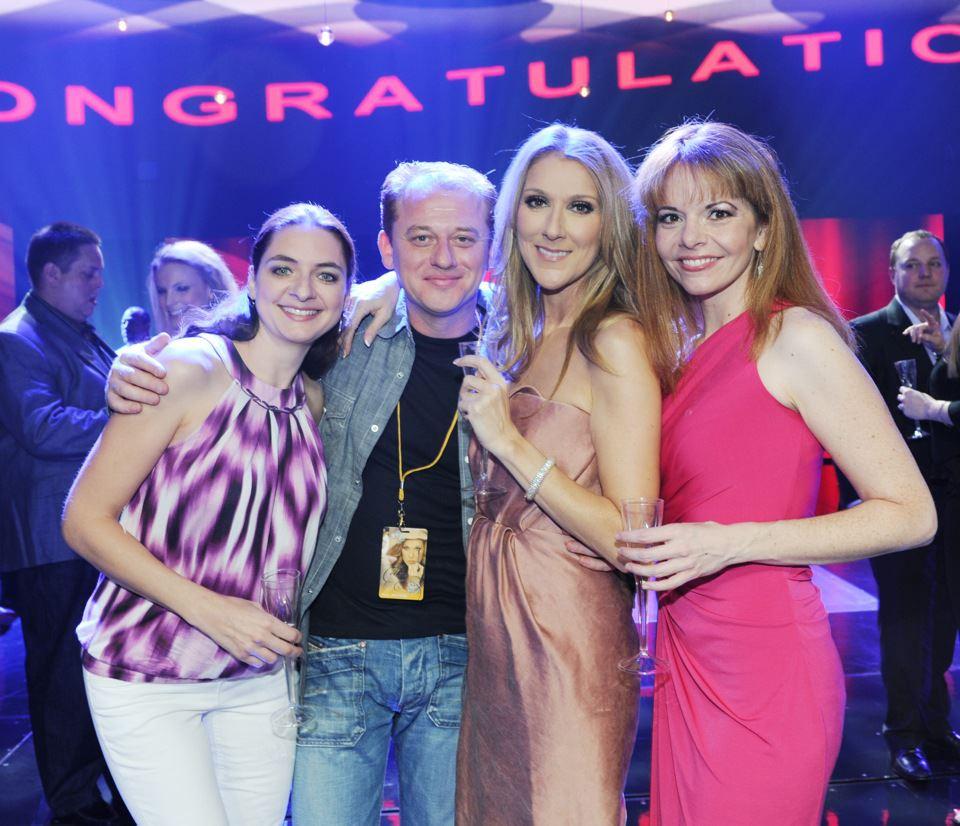 Lenka Hajkova, Dmitri Kourka, Céline Dion, Lisa Dondlinger (© Denise Truscello)