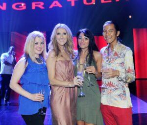 Lindsey Springer, Céline Dion, Irina Chirkova, Raymond Sicam III (© Denise Truscello)