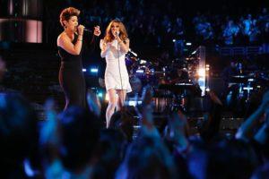 Tessanne Chin, Céline Dion (© Trae Patton/NBC)