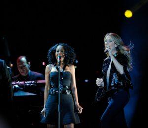 Yves Frulla, Dawn Cumberbatch, Céline Dion (© Le Soleil, Jean-Marie Villeneuve)
