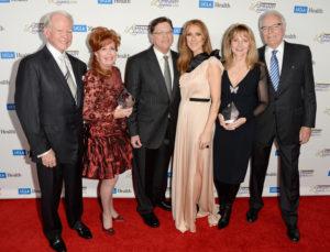 James Bashor, Diane Bashor, Dr. Gerald Berke, Céline Dion, Ann Moss, Jerry Moss (© Jason Merritt/Getty Images North America)