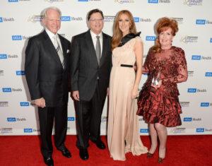 James Bashor, Dr. Gerald Berke, Céline Dion, Diane Bashor (© Jason Merritt/Getty Images North America)