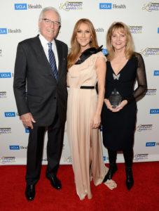 Jerry Moss, Céline Dion, Ann Moss (© Jason Merritt/Getty Images North America)